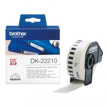 Brother - Cinta continua de papel trmico blanca - DK-22210