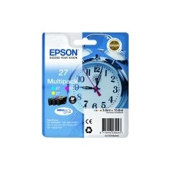 Epson - Alarm clock 27XL DURABrite Ultra Original Cian Magenta Amarillo 1 piezas