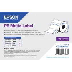 Epson - PE Matte Label - Die-cut Roll 76mm x 127mm 220 labels
