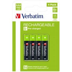 Verbatim - 49514 pila domstica Batera de un solo uso AAA Nquel-metal hidruro NiMH
