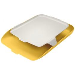 Leitz - 52590019 bandeja de escritorio/organizador Poliestireno PS Amarillo