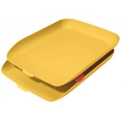 Leitz - 53581019 bandeja de escritorio/organizador Poliestireno PS Amarillo