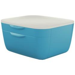 Leitz - 53570061 bandeja de escritorio/organizador Poliestireno PS Azul Blanco