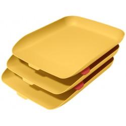Leitz - 53582019 bandeja de escritorio/organizador Poliestireno PS Amarillo