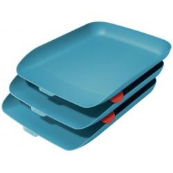 Leitz - 53582061 bandeja de escritorio/organizador Poliestireno PS Azul