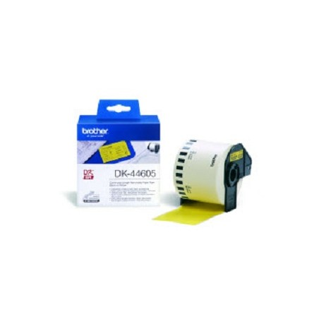 Brother - DK-44605 Continuous Removable Yellow Paper Tape 62mm Amarillo
