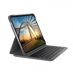 Logitech - Slim Folio Pro teclado para mvil QWERTY Espaol Grafito Bluetooth - 920-009687