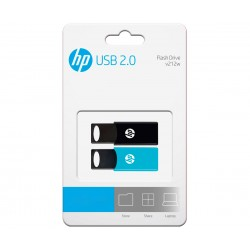 HP - v212w unidad flash USB 64 GB USB tipo A 20 Negro Azul