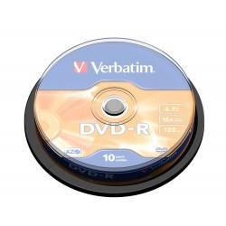 Verbatim - DVD-R Matt Silver 47 GB 10 piezas