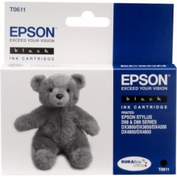 Epson - Teddybear T061 Black Ink Cartridge Original Negro