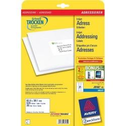 Avery - J8160-25 etiqueta para direccin Blanco
