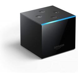 Amazon - Fire TV Cube reproductor multimedia y grabador de sonido Negro 4K Ultra HD 16 GB 71 canales Wifi