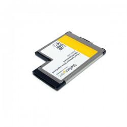 StarTechcom - Tarjeta Adaptador ExpressCard/54 USB 30 SuperSpeed de 2 Puertos con UASP - Montaje al Ras - Flush Mount