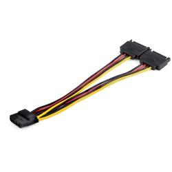 StarTechcom - Cable Divisor Splitter SATA a LP4 en Y - con Recubrimiento en PVC y Alambre de 5347mm2