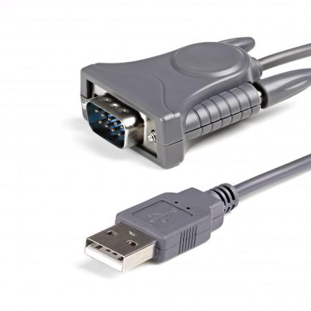 StarTechcom - Cable Adaptador de 09m USB a Serie Serial DB9 DB25 RS232