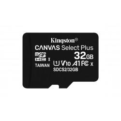 Kingston Technology - Canvas Select Plus memoria flash 32 GB MicroSDHC Clase 10 UHS-I - SDCS2/32GB-2P1A