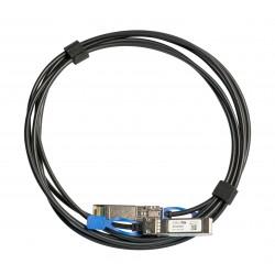 Mikrotik - XSDA0003 cable infiniBanc 3 m SFP/SFP/SFP28 Negro