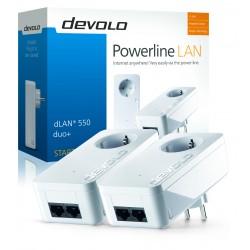 Devolo - dLAN 550 duo Starter Kit PLC 500 Mbit/s Ethernet Blanco 2 piezas
