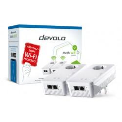 Devolo - 08759 adaptador de red PowerLine 1200 Mbit/s Ethernet Wifi Blanco 2 piezas