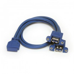 StarTechcom - Cable Extensor 50cm 2 Puertos USB 30 para Montaje en Panel conexin a Placa Base - Hembra USB A