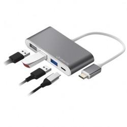 SilverHT - Hub Logan USB-C 4 en 1