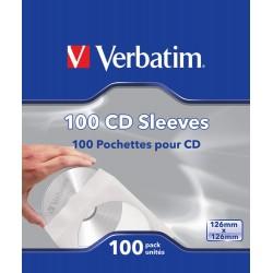 Verbatim - Fundas de CD papel paq 100