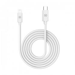 Celly - USBLIGHTTYPECWH cable de telfono mvil Blanco USB C Lightning 1 m