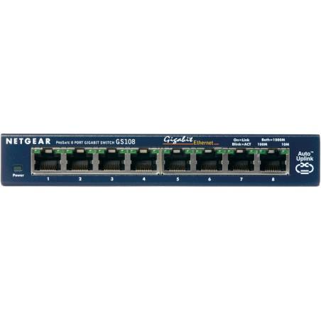 Netgear - ProSafe 8-Port Gigabit Desktop Switch No administrado