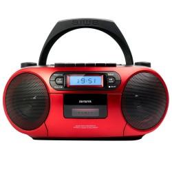 Aiwa - BBTC-550RD Reproductor de CD porttil Negro Rojo