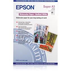 Epson - Papel acuarela blanco DIN A3 190 g/m 20 hojas