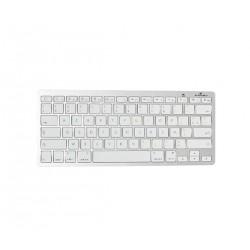 Bluestork - BS-KB-MICRO/BT/SP teclado Bluetooth QWERTY Espaol Plata Blanco