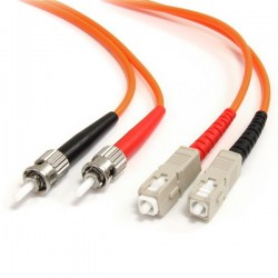 StarTechcom - Cable de Fibra ptica Patch Multimodo 625/125 Dplex ST a SC de 3m  Naranja