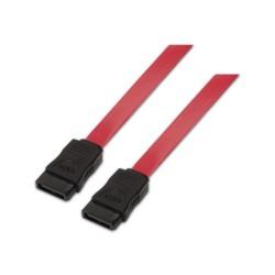 AISENS - A130-0153 cable de SATA 05 m SATA 7-pin Negro Rojo