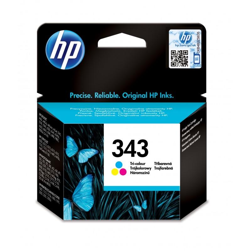 HP - 343 1 piezas Original Rendimiento estndar Cian Magenta Amarillo