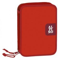 Alpino - ESTUCHE PLUMIER RED 2 PISOS ALPINO UA000150