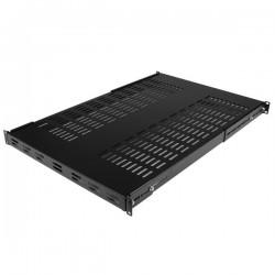 StarTechcom - Estante Bandeja Fijo Ventilado de Gabinete Rack Servidores 1U Ajustable - 113kg