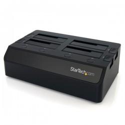 StarTechcom - Base de Conexin USB 30 con 4 Bahas SATA 6Gbps de 25 y 35 Pulgadas - Docking Station para HDD SSD