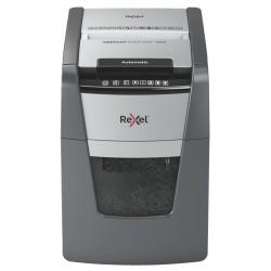 Rexel - Optimum AutoFeed 100X triturador de papel Corte cruzado 55 dB 22 cm Negro Gris