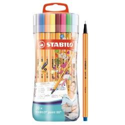 STABILO - Point 88 rotulador de punta fina Fino Multicolor 30 piezas