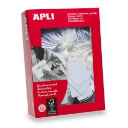 APLI - 00383 etiqueta sin adhesivo 1000 piezas Blanco Rectngulo