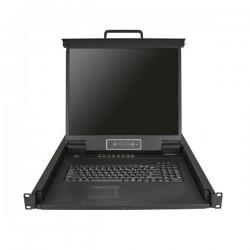 StarTechcom - Consola para Armario Rack con KVM de 16 Puertos VGA y Pantalla de 19 Pulgadas - 1U