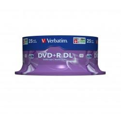Verbatim - DVDR Double Layer 8x Matt Silver 25pk Spindle 85 GB DVDR DL 25 piezas