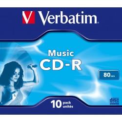 Verbatim - Music CD-R 700 MB 10 piezas
