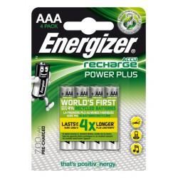 Energizer - Accu Recharge Power Plus 700 AAA BP4 Batera recargable Nquel-metal hidruro NiMH