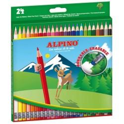 Alpino - ESTUCHE 24 LPICES DE COLORES BORRABLES ALPINO AL013658