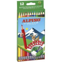 Alpino - ESTUCHE 12 LPICES DE COLORES BORRABLES ALPINO AL013654