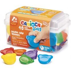 Carioca - ESTUCHE CERAS BABY TEDDY CRAYONS 1 PLASTIC CASE 48 PCS  CARIOCA 42958