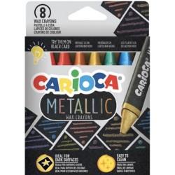 Carioca - ESTUCHE METALLIC CERAS 8 PCS CARIOCA 43163