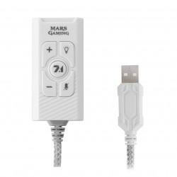 Mars Gaming - MSC2W Tarjeta de Sonido Externa 71 USB Blanca