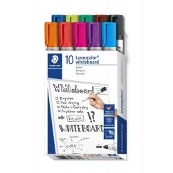 Staedtler - Lumocolor 351 B10 marcador 10 piezas Punta redonda Negro Azul Marrn Verde Azul claro Verde claro Naranja R